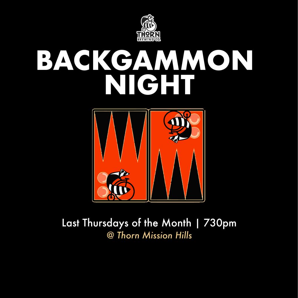backgammon flyer