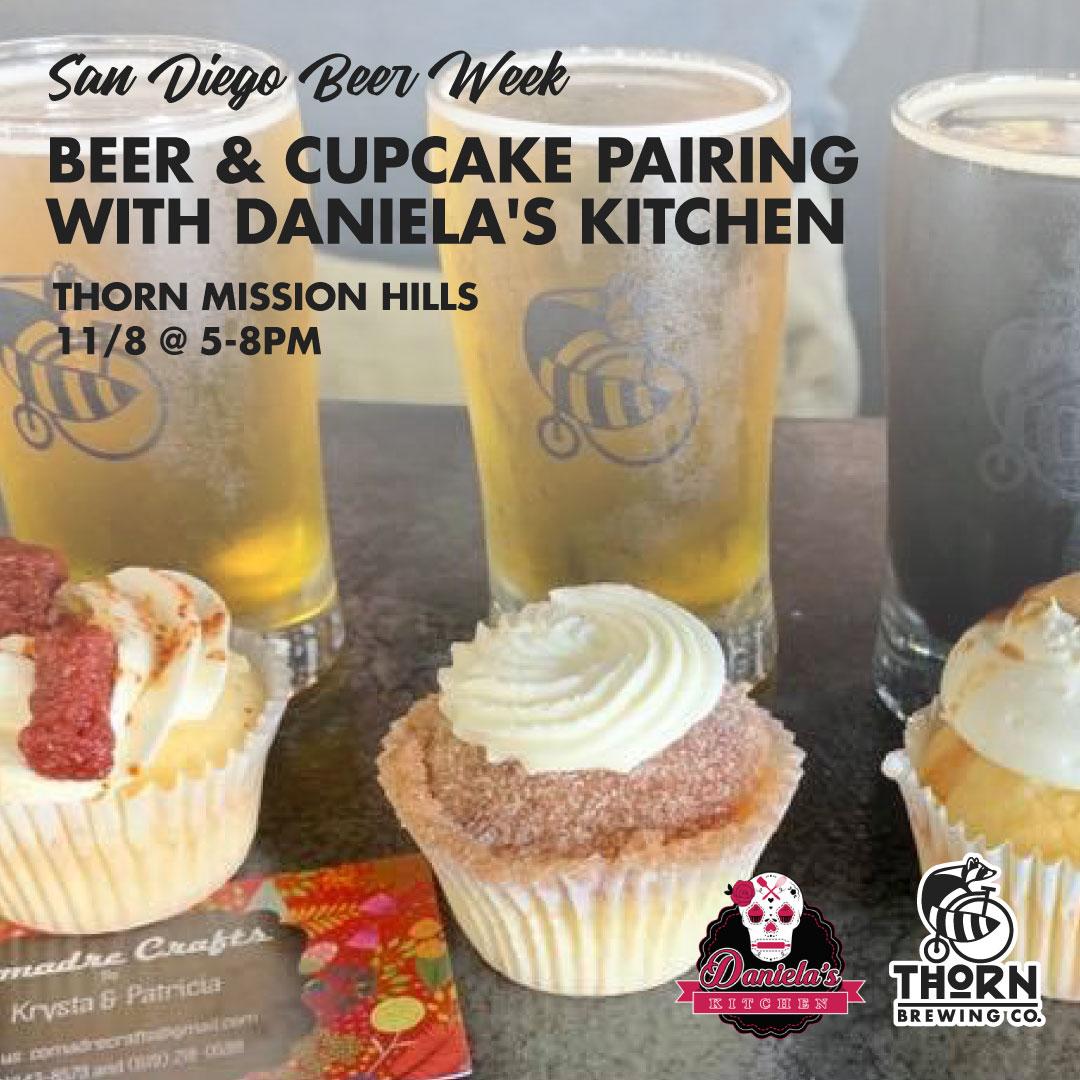 Thorn Brewing Beer & Cupcake Pairing
