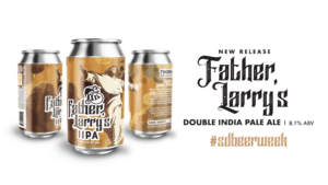 cans of Father Larry IPA beer