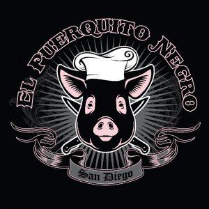 el puerquito negro food truck logo