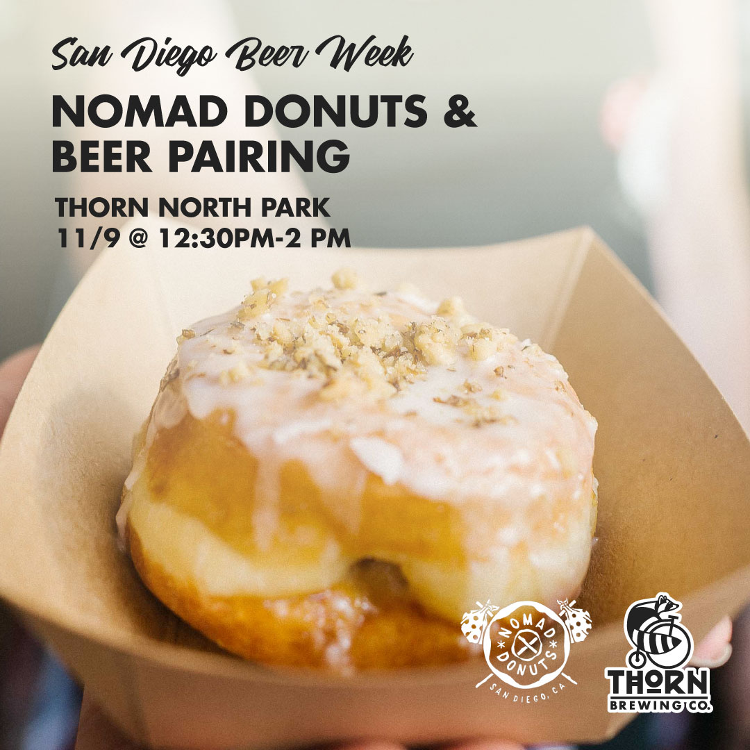 Thorn Brewing Nomad Donut and Beer Pairing