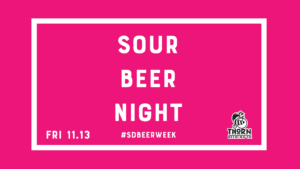 text saying sour beer night
