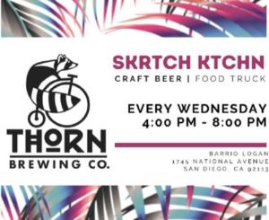 big thorn brewing logo with skrtch ktchn logo to advertise food truck