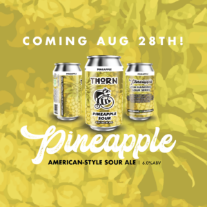 three cans of pineapple sour beer