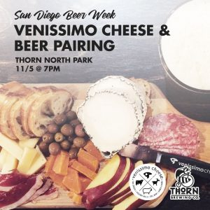 Thorn Brewing Venissimo Cheese and Beer Pairing