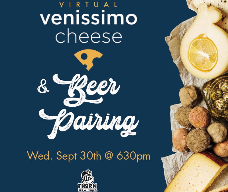 Virtual Venissimo Cheese & Beer Pairing