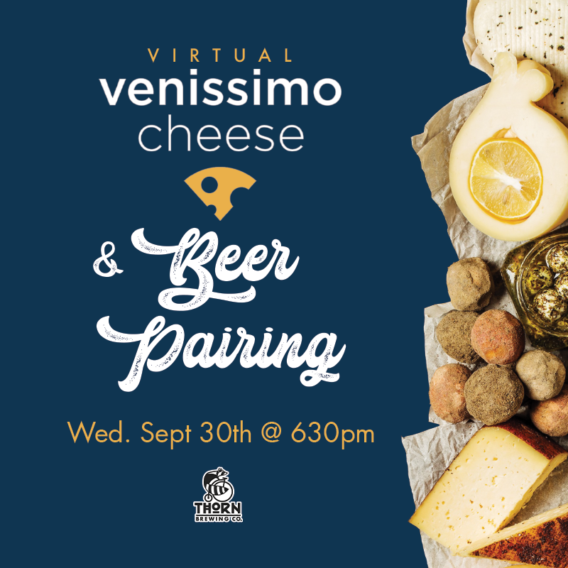 graphic for beer and cheese pairing and pictures of cheese