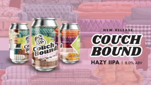 picture of couch bound can of beer